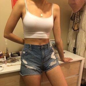 Super comfy denim shorts